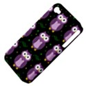Halloween purple owls pattern Apple iPhone 4/4S Hardshell Case (PC+Silicone) View4