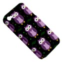 Halloween purple owls pattern Apple iPhone 4/4S Hardshell Case (PC+Silicone) View5