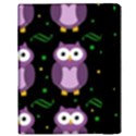 Halloween purple owls pattern Samsung Galaxy Tab 10.1  P7500 Flip Case View3