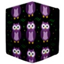 Halloween purple owls pattern Samsung Galaxy Tab 10.1  P7500 Flip Case View4