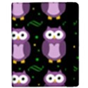 Halloween purple owls pattern Samsung Galaxy Tab 8.9  P7300 Flip Case View2