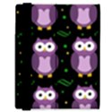 Halloween purple owls pattern Samsung Galaxy Tab 8.9  P7300 Flip Case View3