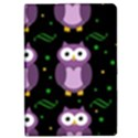 Halloween purple owls pattern iPad Mini 2 Flip Cases View1