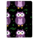 Halloween purple owls pattern iPad Mini 2 Flip Cases View2