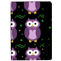 Halloween purple owls pattern iPad Air Flip View2