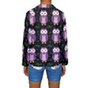Halloween purple owls pattern Kids  Long Sleeve Swimwear View2