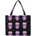 Halloween purple owls pattern Mini Tote Bag View1