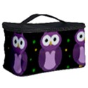 Halloween purple owls pattern Cosmetic Storage Case View2