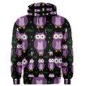 Halloween purple owls pattern Men s Pullover Hoodie View1