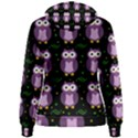 Halloween purple owls pattern Women s Pullover Hoodie View2