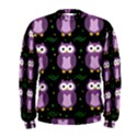 Halloween purple owls pattern Men s Sweatshirt View1