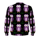 Halloween purple owls pattern Men s Sweatshirt View2