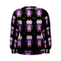 Halloween purple owls pattern Women s Sweatshirt View1
