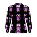 Halloween purple owls pattern Women s Sweatshirt View2