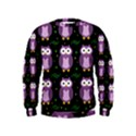 Halloween purple owls pattern Kids  Sweatshirt View1