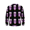 Halloween purple owls pattern Kids  Sweatshirt View2