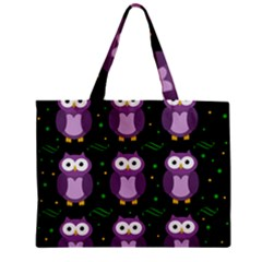 Halloween purple owls pattern Zipper Mini Tote Bag