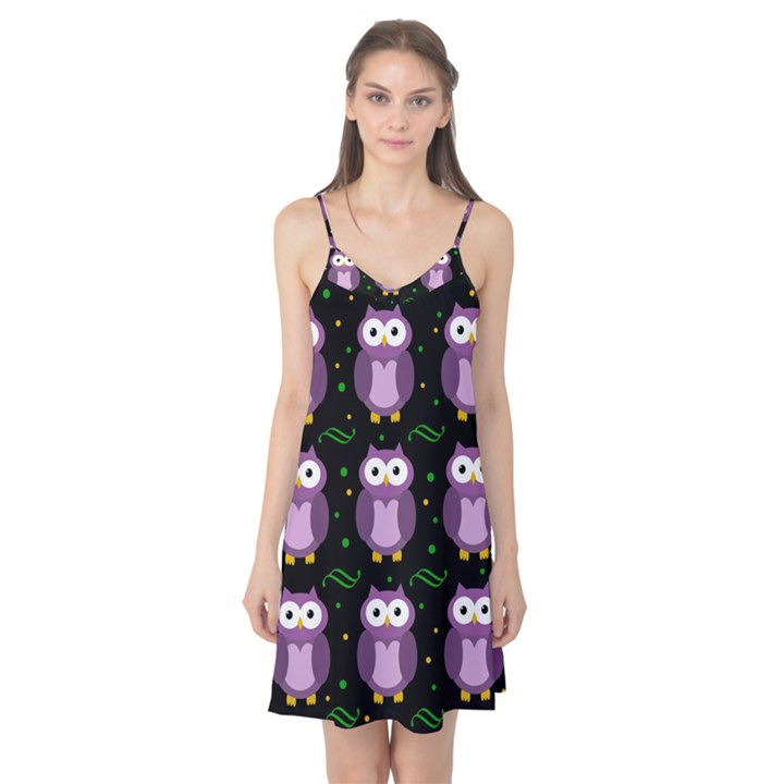 Halloween purple owls pattern Camis Nightgown