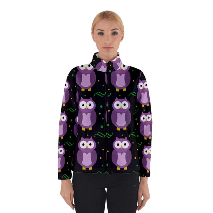 Halloween purple owls pattern Winterwear