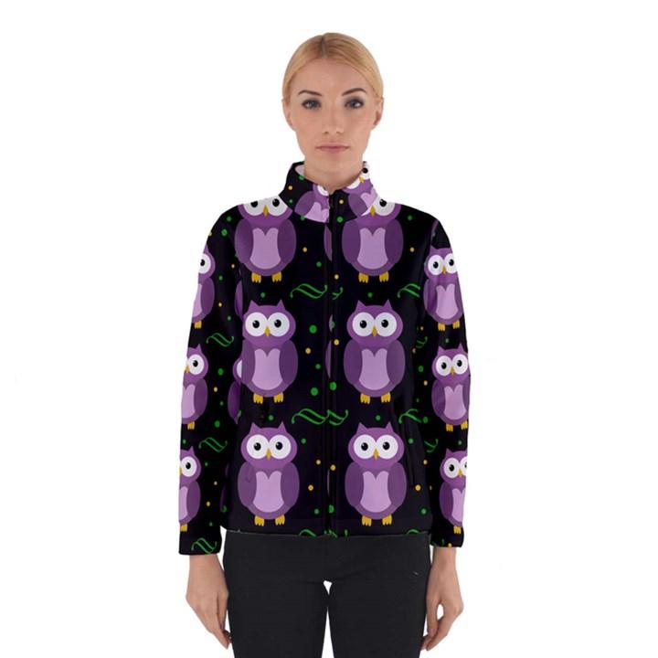 Halloween purple owls pattern Winterwear