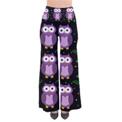 Halloween purple owls pattern Pants