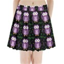 Halloween purple owls pattern Pleated Mini Skirt View1