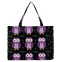 Halloween purple owls pattern Medium Zipper Tote Bag View1