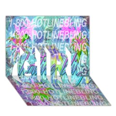 Drake 1 800 Hotline Bling GIRL 3D Greeting Card (7x5)