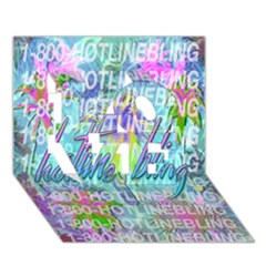 Drake 1 800 Hotline Bling LOVE 3D Greeting Card (7x5)