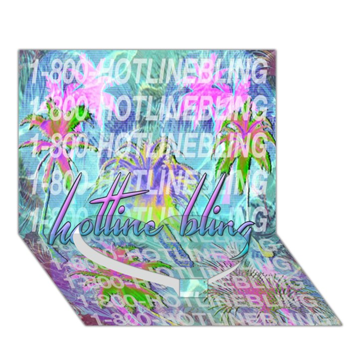 Drake 1 800 Hotline Bling Heart Bottom 3D Greeting Card (7x5)