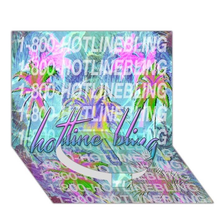 Drake 1 800 Hotline Bling Circle Bottom 3D Greeting Card (7x5)