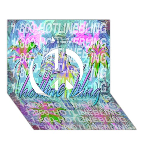 Drake 1 800 Hotline Bling Peace Sign 3D Greeting Card (7x5)