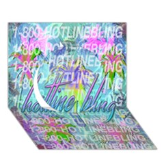 Drake 1 800 Hotline Bling Circle 3d Greeting Card (7x5)