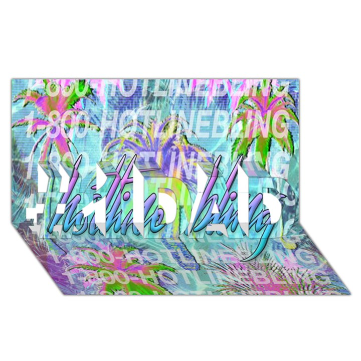 Drake 1 800 Hotline Bling #1 DAD 3D Greeting Card (8x4)