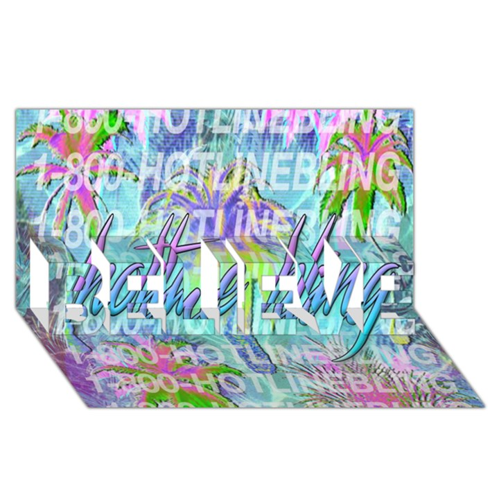 Drake 1 800 Hotline Bling BELIEVE 3D Greeting Card (8x4)