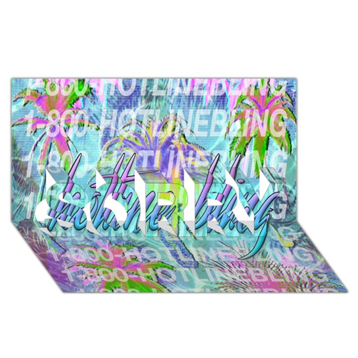 Drake 1 800 Hotline Bling SORRY 3D Greeting Card (8x4)