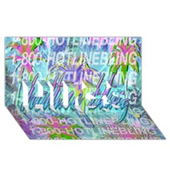 Drake 1 800 Hotline Bling HUGS 3D Greeting Card (8x4)