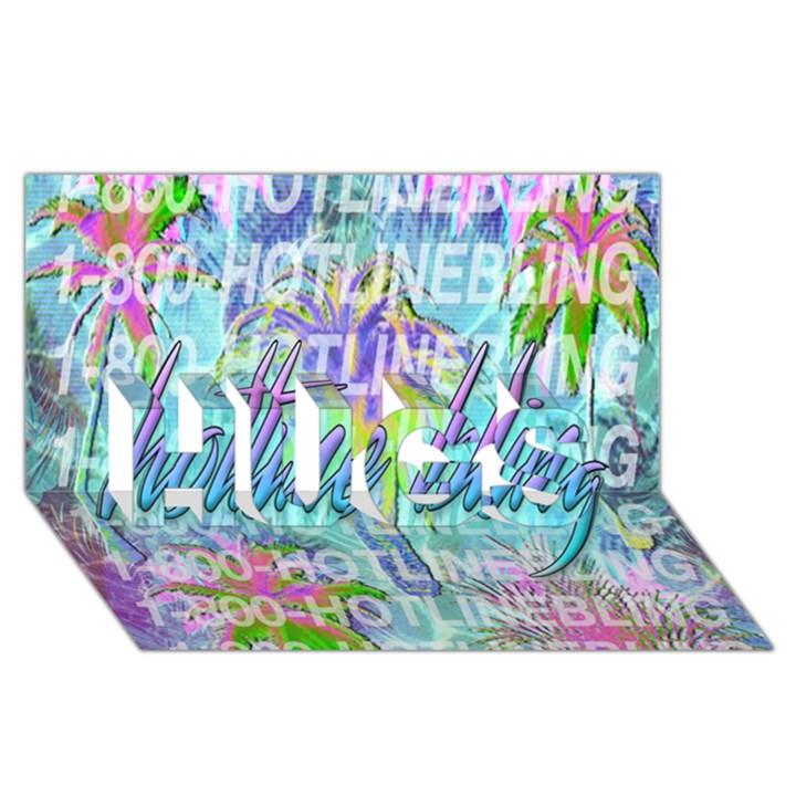 Drake 1 800 Hotline Bling HUGS 3D Greeting Card (8x4)