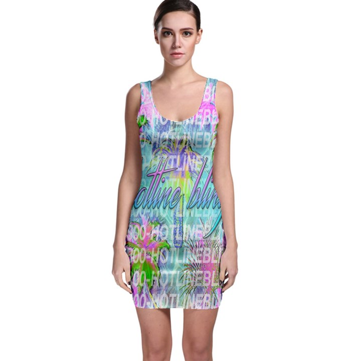 Drake 1 800 Hotline Bling Sleeveless Bodycon Dress