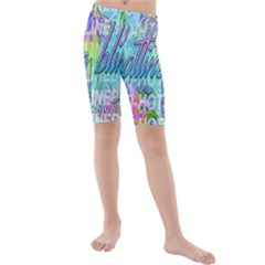Drake 1 800 Hotline Bling Kids  Mid Length Swim Shorts