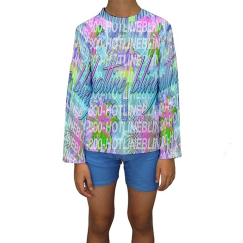 Drake 1 800 Hotline Bling Kids  Long Sleeve Swimwear