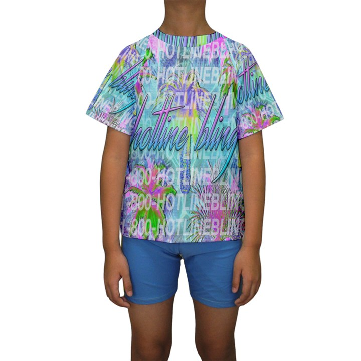 Drake 1 800 Hotline Bling Kids  Short Sleeve Swimwear