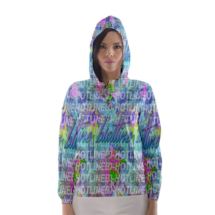 Drake 1 800 Hotline Bling Hooded Wind Breaker (Women)