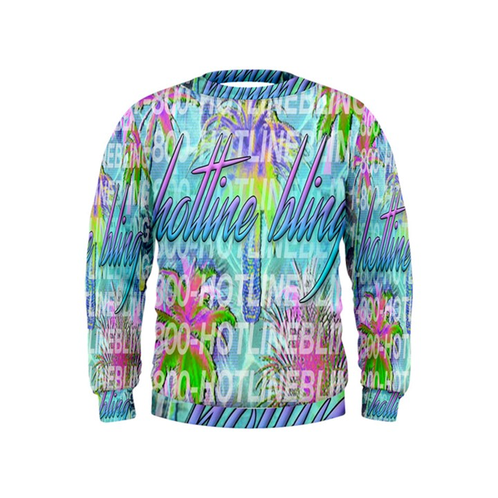 Drake 1 800 Hotline Bling Kids  Sweatshirt