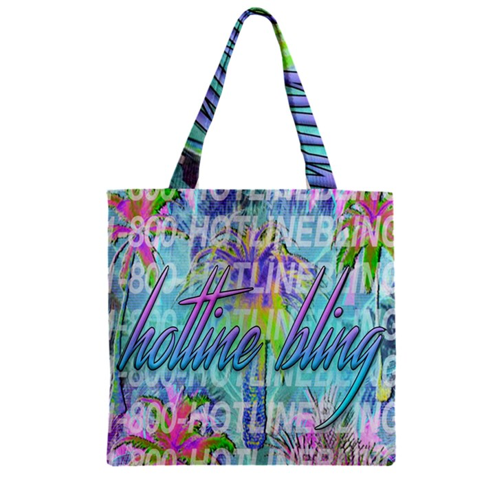 Drake 1 800 Hotline Bling Zipper Grocery Tote Bag