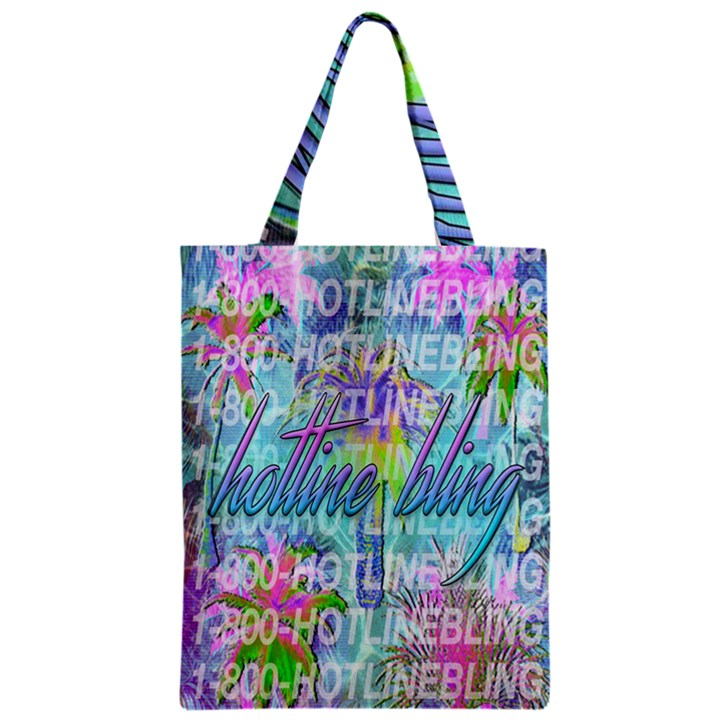 Drake 1 800 Hotline Bling Zipper Classic Tote Bag