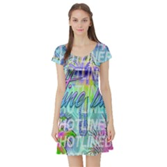 Drake 1 800 Hotline Bling Short Sleeve Skater Dress