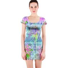 Drake 1 800 Hotline Bling Short Sleeve Bodycon Dress