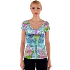 Drake 1 800 Hotline Bling Women s V-Neck Cap Sleeve Top