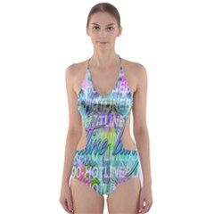 Drake 1 800 Hotline Bling Cut-Out One Piece Swimsuit